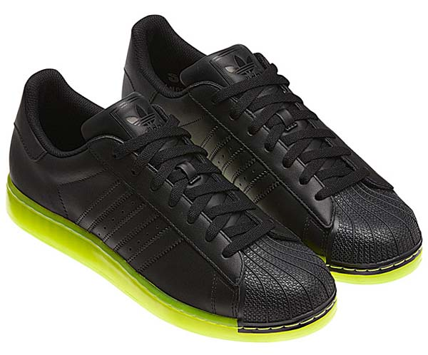 adidas SUPER STAR CLR [BLACK/NEON YELLOW] Q22999 写真1