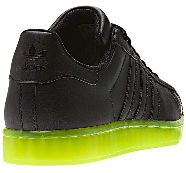 adidas SUPER STAR CLR [BLACK/NEON YELLOW] Q22999 写真2