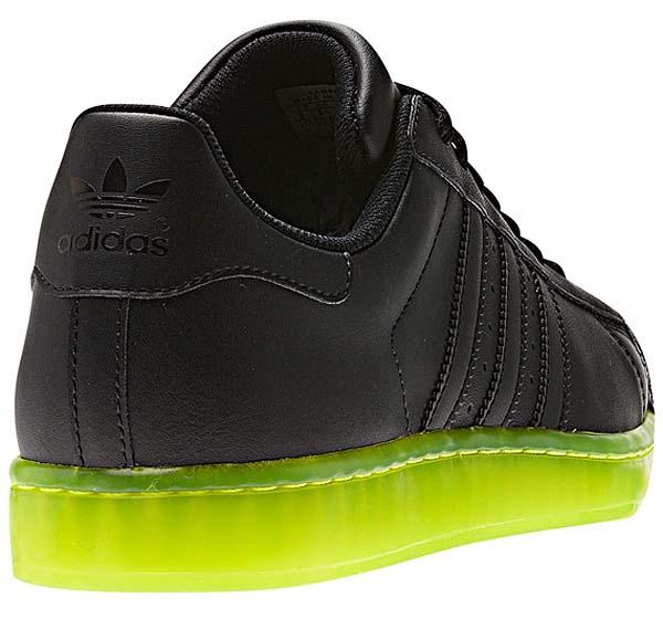 adidas SUPER STAR CLR [BLACK/NEON YELLOW] Q22999 写真2