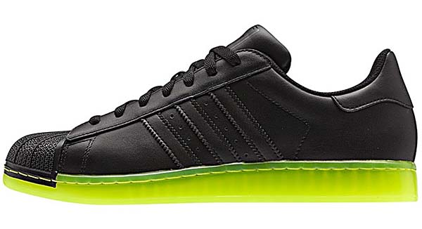 adidas SUPER STAR CLR [BLACK/NEON YELLOW] Q22999