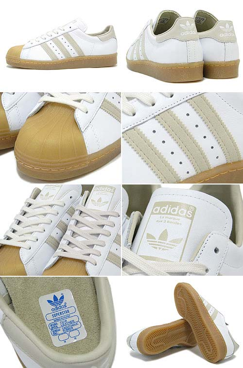 adidas SUPER STAR 80s GUM OUTSOLE [WHITE/BLISS/GUM] Q23003 写真1