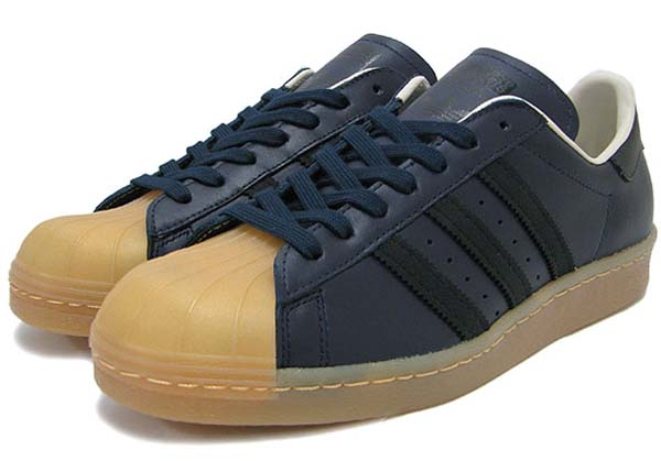 adidas SUPER STAR 80s GUM OUTSOLE [LEGEND INK/BLACK/GUM] Q23004
