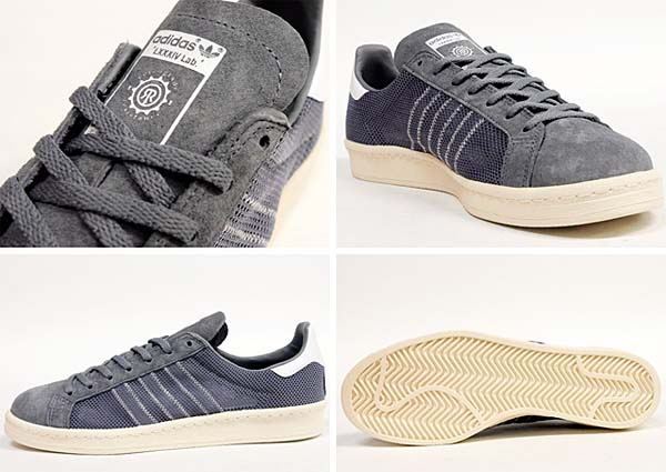 adidas x KAZUKI CAMPUS 80s 84-LAB [TECH GREY/SUPPLIER COLOUR/LIGHT BONE] Q23085 写真2