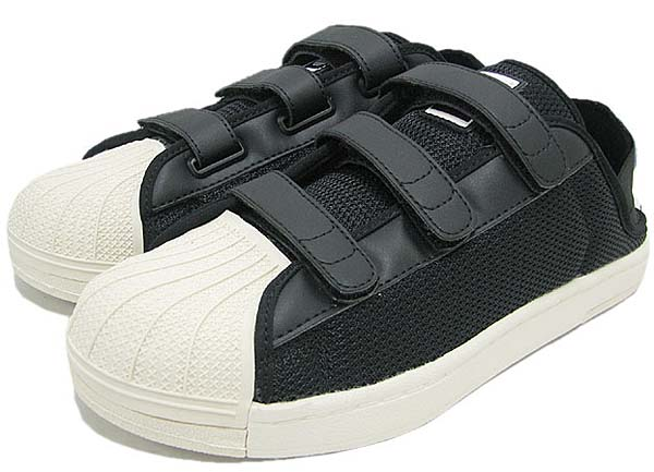 adidas SUPER STAR SANDAL [BLACK/WHITE VAPOR/ORIGINALS BLUE] Q34140 写真1