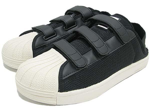 adidas SUPER STAR SANDAL [BLACK/WHITE VAPOR/ORIGINALS BLUE] Q34140 写真1