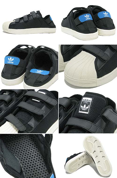 adidas SUPER STAR SANDAL [BLACK/WHITE VAPOR/ORIGINALS BLUE] Q34140 写真2