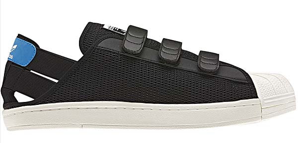 adidas SUPER STAR SANDAL [BLACK/WHITE VAPOR/ORIGINALS BLUE] Q34140