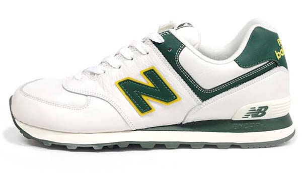 new balance ML574 NGY [WHITE/GREEN] ML574 NGY 写真1
