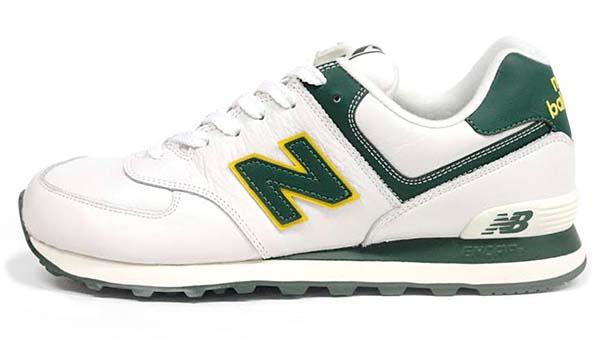 new balance ML574 NGY [WHITE/GREEN] ML574 NGY 写真1
