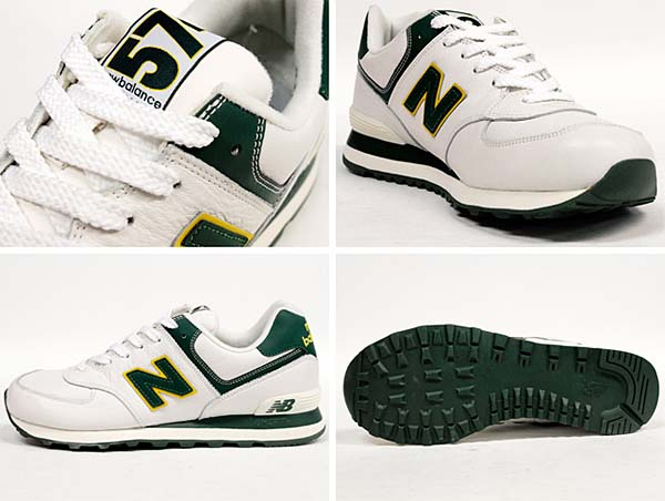 new balance ML574 NGY [WHITE/GREEN] ML574 NGY 写真2