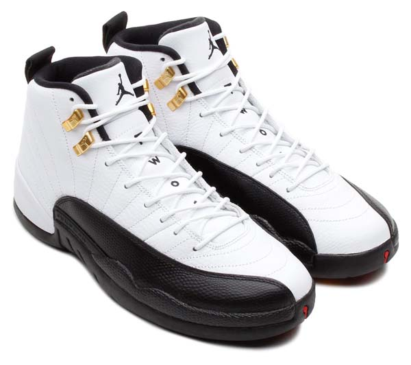 NIKE AIR JORDAN 12 RETRO [WHITE/BLACK-TAXI-VARSITY RED] 130690-125