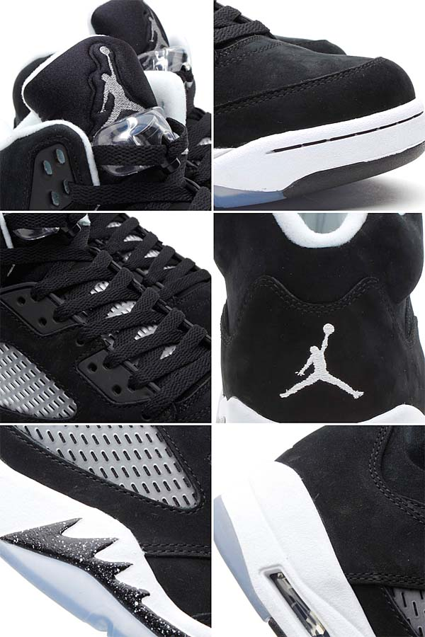 NIKE AIR JORDAN 5 RETRO [BLACK/COOL GREY-WHITE] 136027-035