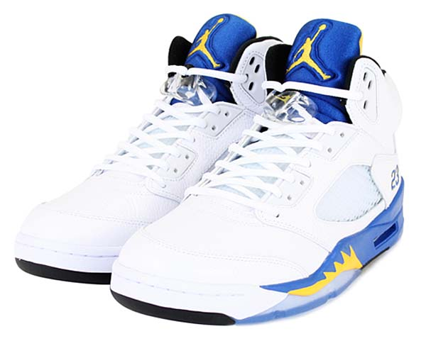 NIKE AIR JORDAN 5 RETRO [WHITE/VRSTY MZ-VRSTY RYL-BLCK] 136027-189
