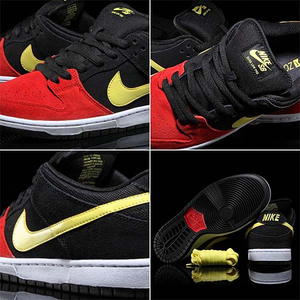 NIKE DUNK LOW PRO SB [BLACK/UNIVERSITY RED/SONIC YELLOW] 304292-076