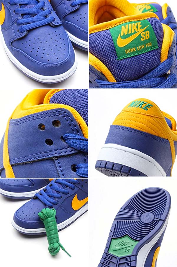 NIKE DUNK LOW PRO SB [ROYAL BLUE/MDS GOLD/PN GREEN] 304292-473