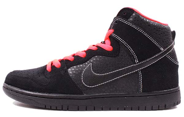 NIKE DUNK HIGH PRO SB [BLACK/BLACK-ATOMIC RED] 305050-066