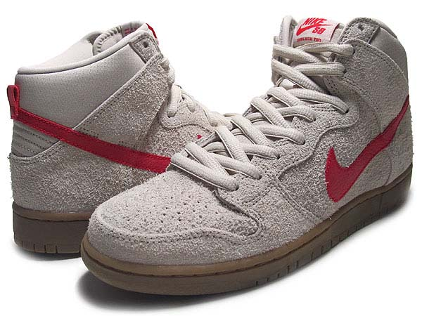 NIKE DUNK HIGH PRO SB [BIRCH/HYPER RED] 305050-206