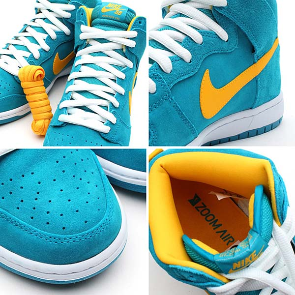 NIKE DUNK HIGH PRO SB [TROPICAL TEAL/UNIVERSITY GOLD/WHITE] 305050-371