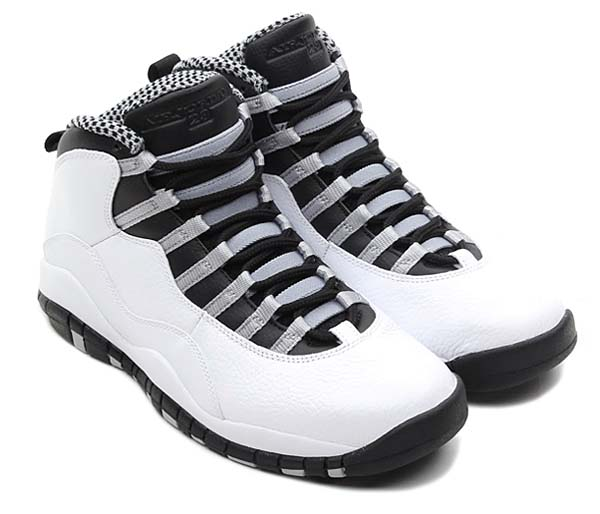 NIKE AIR JORDAN 10 RETRO [WHITE/BLACK-LIGHT STEEL GREY-VARSITY RED] 310805-103