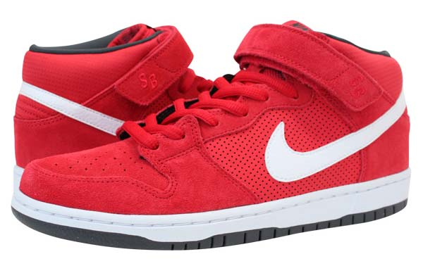 NIKE DUNK MID PRO SB [HYPER RED/WHITE-ANTHRACITE] 314383-610