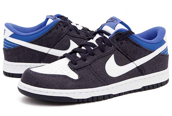 NIKE DUNK LOW DENIM [BLACKENED BLUE/WHITE-GM ROYAL] 318019-409