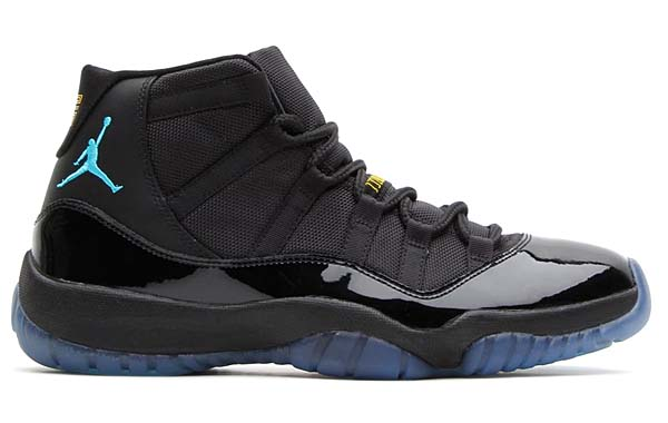 NIKE AIR JORDAN 11 RETRO [BLACK/GAMMA BLUE-BLACK-VARSITY MAIZE] 378037-006