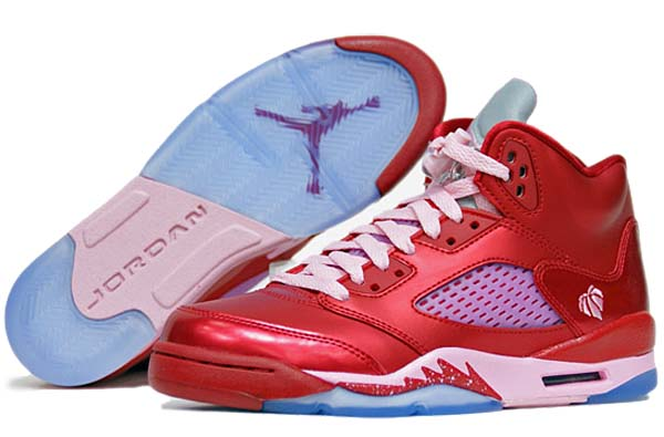 NIKE AIR JORDAN 5 RETRO GS [GYM RED/ION PINK] 440892-605