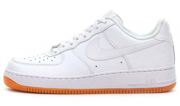 NIKE AIR FORCE 1 LOW 07 [WHITE/WHITE-GUM MED BROWN] 488298-129