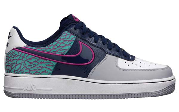 NIKE AIR FORCE 1 LOW 07 ELEPHANT PRINT [MIDNIGHT NAVY/MIDNIGHT NAVY-FUSION PINK] 488298-417