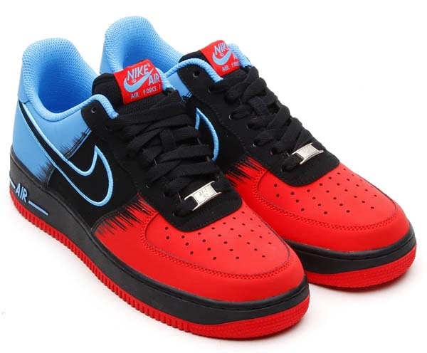 NIKE AIR FORCE 1 LOW [LIGHT CRIMZON/BLACK-VIVID BLUE] 488298-615