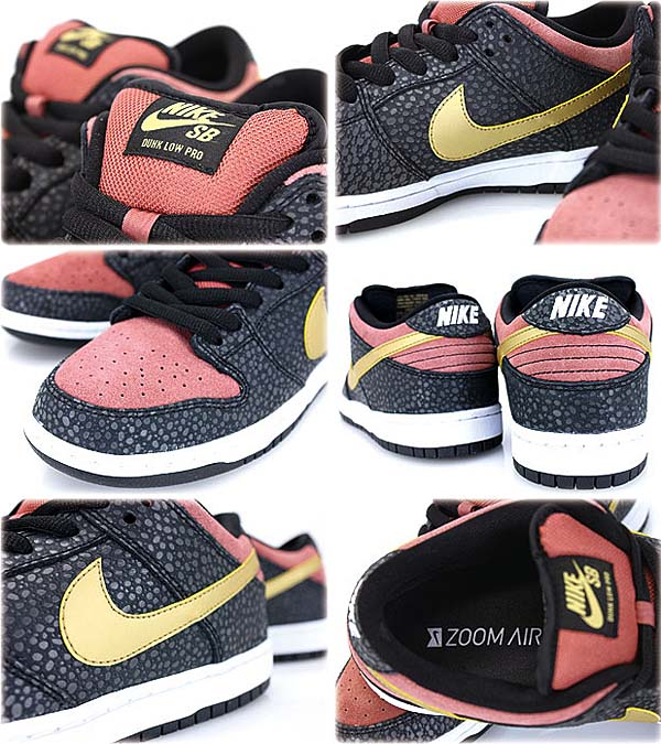 NIKE DUNK LOW PRO PREMIUM SB QS [BLACK/MATALLIC GOLD] 504750-076