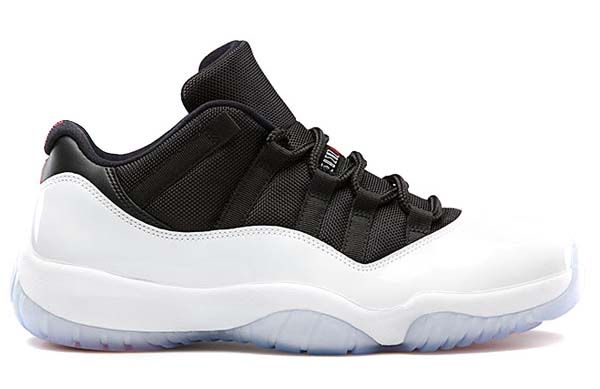 NIKE AIR JORDAN 11 RETRO LOW [WHITE/BLACK/RED] 528895-110