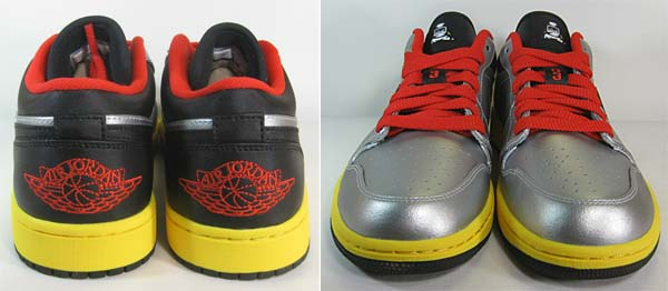 NIKE AIR JORDAN 1 LOW Johnny Kilroy [METALLIC SILVER/TOUR YELLOW/CHALLENGE RED] 553558-023