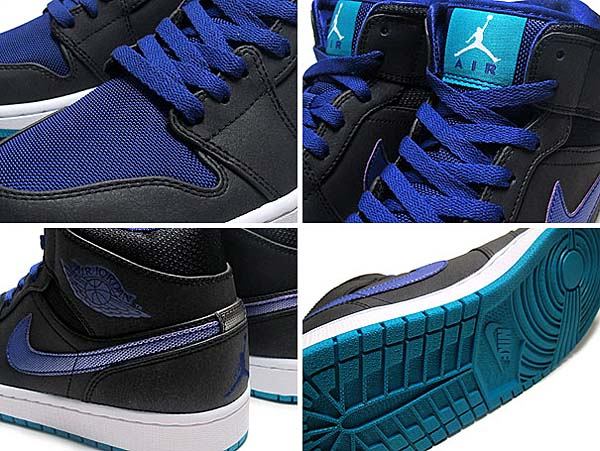 NIKE AIR JORDAN 1 MID [BLACK GRAPE] 554724-015