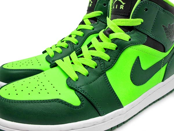 NIKE AIR JORDAN 1 PHAT MID [GORGE GREEN/BLACK-ELECTRIC GREEN] 554724-330