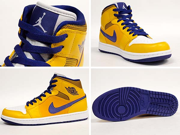 NIKE AIR JORDAN 1 MID [YELLOW/BLUE PURPLE] 554724-708
