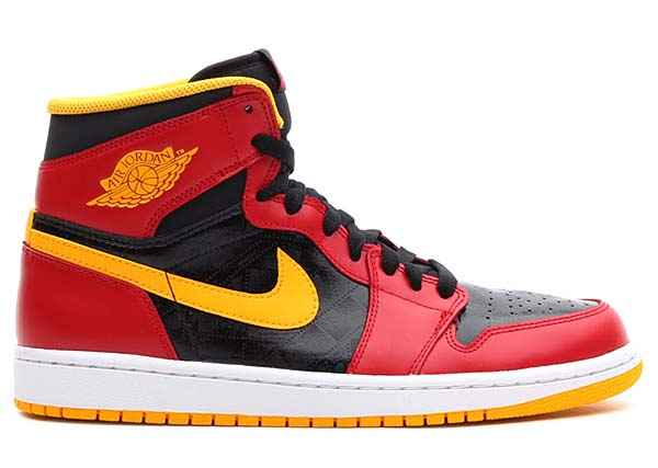 NIKE AIR JORDAN 1 RETRO HIGH OG [BLACK/GYM RED-UNIVERSITY GOLD] 555088-017