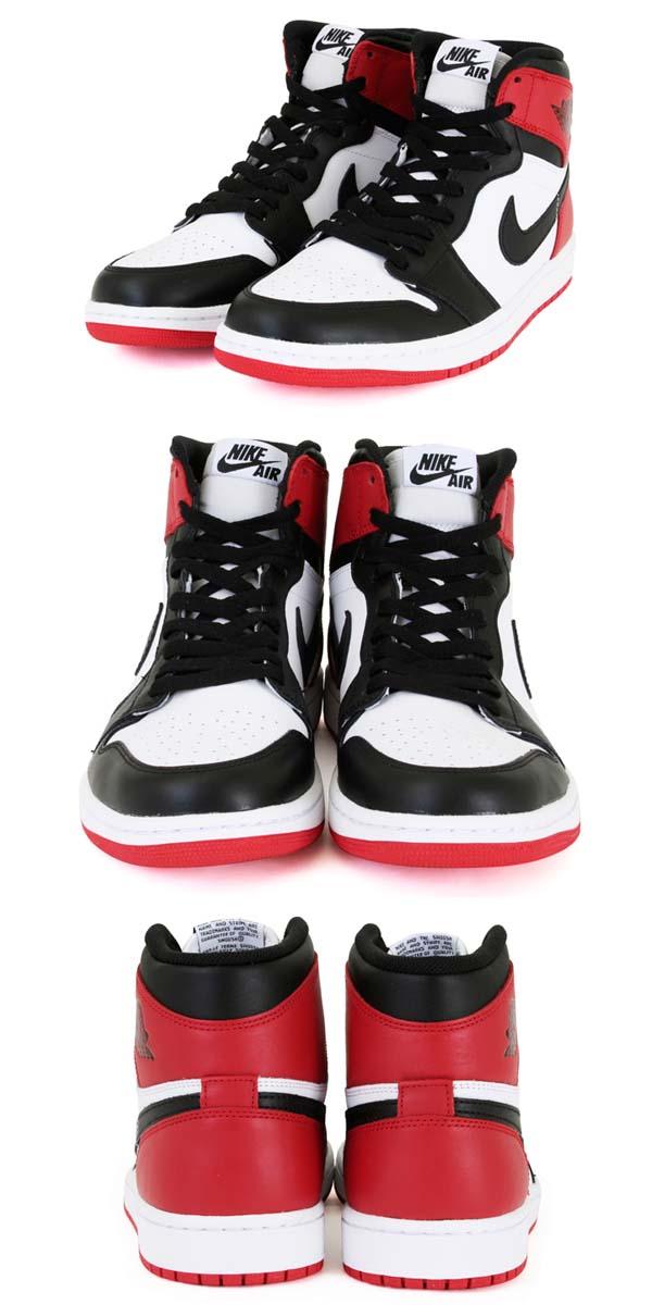 NIKE AIR JORDAN 1 RETRO HIGH OG [WHITE/BLACK-GYM RED] 555088-184