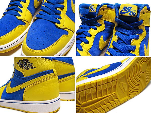 NIKE AIR JORDAN 1 RETRO HI OG LANEY [V.MAIZE/G.ROYAL-WHT] 555088-707