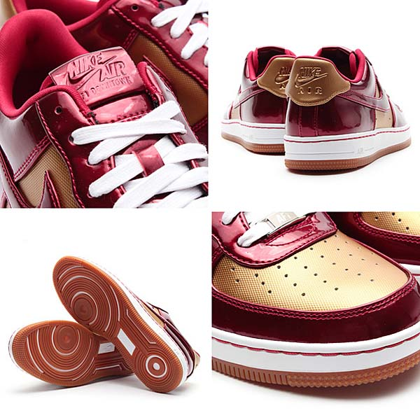 NIKE AF1 DOWNTOWN LTH QS [FLT GOLD/VARSITY RED-VRSTY RED] 573979-700