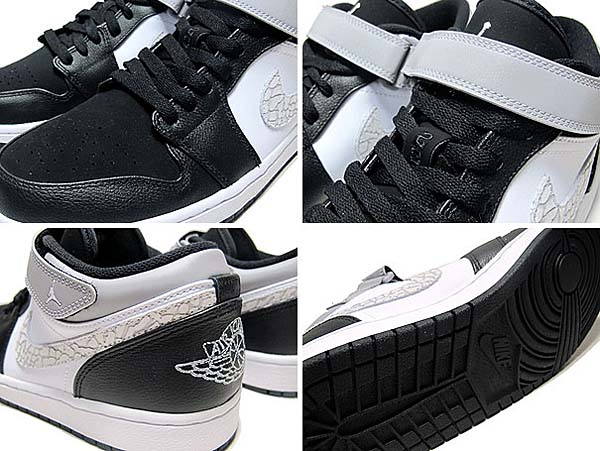 NIKE AIR JORDAN 1 STRAP LOW [BLACK/MATTE SILVER/WHITE] 574420-003