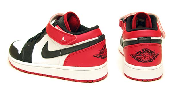 NIKE AIR JORDAN 1 STRAP LOW [WHITE/BLACK-GYM RED] 574420-101