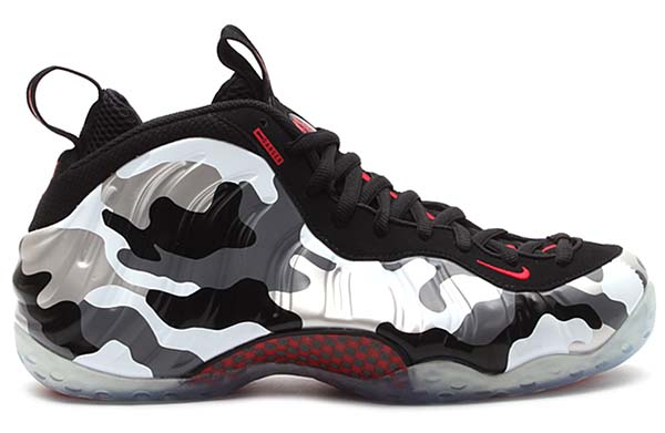 NIKE AIR FOAMPOSITE ONE PRM [BLACK/HYPER RED-DARK GREY-WHITE] 575420-001