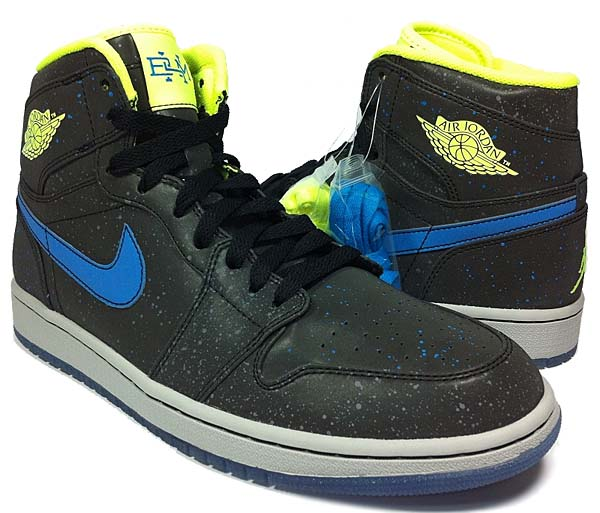 NIKE AIR JORDAN 1 RETRO BHM [BLACK/VOLT-PHOTO BLUE-WHITE] 579591-012
