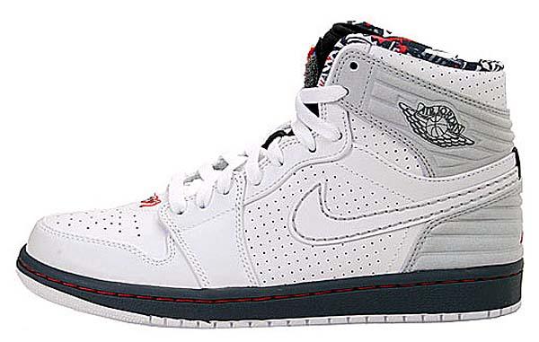 NIKE AIR JORDAN 1 RETRO 93 AJ8 [WHITE/TRUE RED/GREY] 580514-107