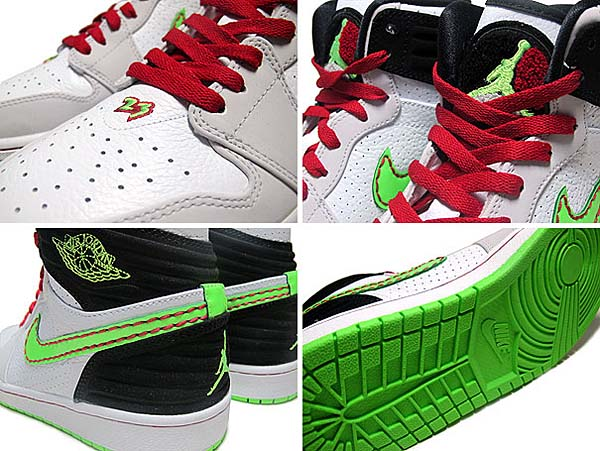 NIKE AIR JORDAN 1 RETRO 93 [WHITE/GREEN/BLACK/GREY] 580514-150