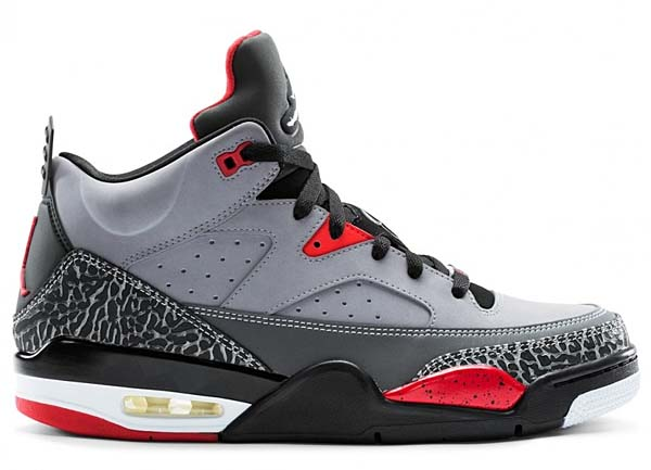 NIKE JORDAN SON OF LOW [CEMENT GREY/BLACK-FIRE RED-WHITE] 580603-004