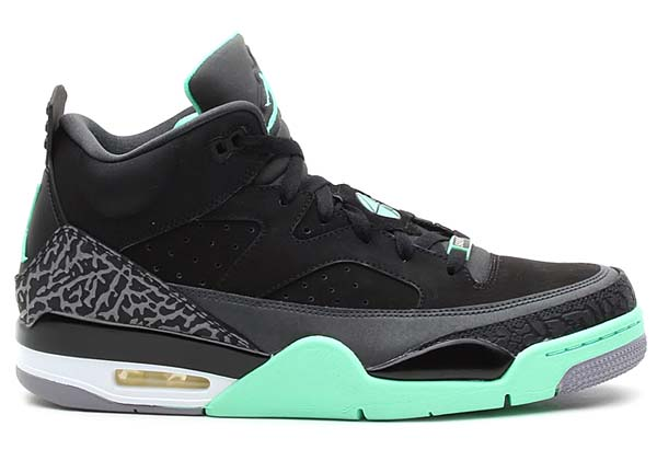 NIKE JORDAN SON OF LOW [BLACK/GRN GLW-ANTHRCT-CMNT GRY] 580603-030