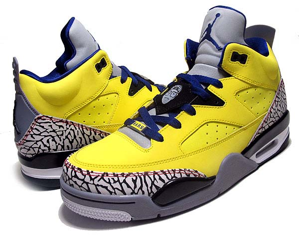 NIKE JORDAN SON OF LOW [Tour Yellow/Grape Ice-Cement Grey-Black-White] 580603-708