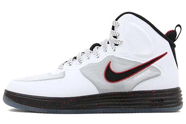 NIKE LUNAR FORCE 1 FUSE [WHITE/BLACK-UNIVERSITY RED] 580616-100